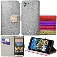 For HTC Desire 625 Shiny Premium Wallet Pouch Case PU Leather Stand + Stylus Pen