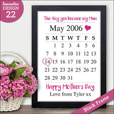 Mothers Day Personalised Gifts - Day You Became My Mum Mummy Mother Presents
