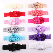 Lovely Girl Baby Headband Chic Flower Lace Chiffon Hairband Bow Hair Accessories