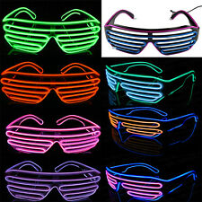 New Sound Activated Led Flashing Shutter Shades  Glasses SunGlasses 8Colors