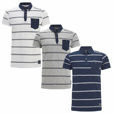 Mens T Shirt 'Lorca' Striped Polo Shirt By Brave Soul Collared Summer Top S-XL