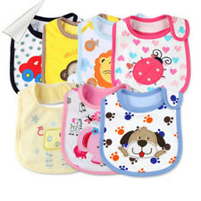 1pc Baby Infants kids Girl Boy Lunch Bibs Saliva Cotton Towel Waterproof Cartoon
