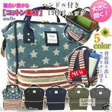 JAPAN ANELLO USA Flag Pattern Handle Backpack Campus Rucksack Canvas School Bag