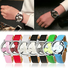 Pretty Fashion Design White Mickey Mouse Quartz Watch Wristwatch-Leather watch