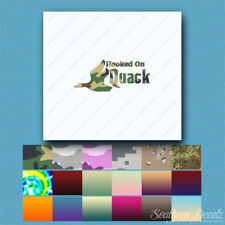 Hooked On Quack Hunting - Decal Sticker - Multiple Patterns & Sizes - ebn3886