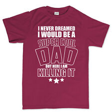 Super Cool Dad Fathers Day Birthday Gift T shirt - Tee T-shirt