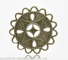Wholesale Lots Bronze Tone Filigree Wraps Connectors 37x37mm