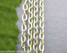 Wholesale Lots Bright Silver Tone Cross Cable Chains Findings Necklace 3x5mm