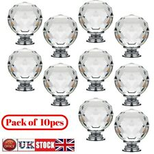 Crystal Glass Door Knobs Drawer Cabinet Furniture Kitchen Handle Top Quality