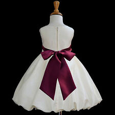 Taffeta Flower Girl Dress Wedding Bridesmaid Birthday Pageant Formal Graduation