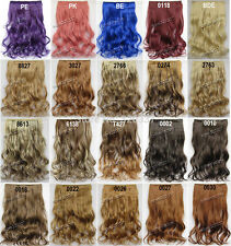 One Piece Clip in Hair Extensions Synthetic Hair Clip on Curly Hair Extensions