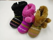 Infant Toddler Baby Girls Faux Suede Flat Winter Fur Boots Shoes Size 5-10 #1477