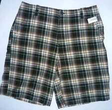 Mens AEROPOSTALE Plaid Flat Front Shorts NWT #7009