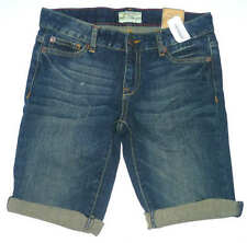 Womens AEROPOSTALE Dark Wash Denim Bermuda Shorts size 00 NWT #0394