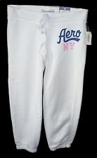 Womens AEROPOSTALE Aero NY Athletic Heritage Cinch Capri Sweat Pants NWT #5484