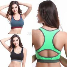 Fashion Seamless Lace Stretch Fitness Exercise Yoga Genie Racerback Sports Bra