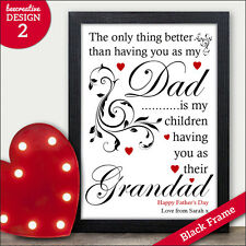 PERSONALISED Print DAD DADDY GRANDAD GRANDPA GRAMPS Gift Birthday Fathers Day