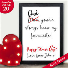 Dad You are my Favourite PERSONALISED Fathers Day Gifts Presents Daddy Grandad