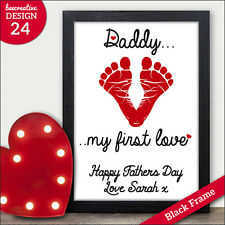 Daddy My First Love - Personalised Fathers Day Gifts - I Love My Daddy Presents
