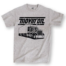 Movin' On Retro Saying Trucker Truck Driver Semi Party Novelty Mens T-Shirt