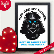 First 1st Fathers Day Gifts Star Wars Darth Vader Personalised Fathers Day Dad