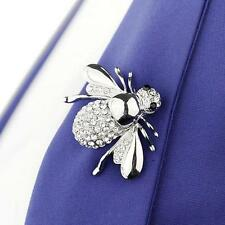 Cute Women's Rhinestone Brooch Pin Small Honey Bee