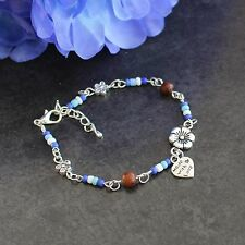 Floral Fun Bracelet (Charm, Beads, Birthday, Gift)