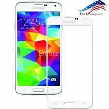 White Front Outer Screen Glass Lens Replacement For Samsung Galaxy S5 Tools Kit