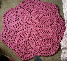 Crochet Doily Rug - Area Rug - Handcrafted - Acrylic  - Any Room - Any Decor