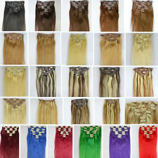 "Straight 16""-30""Long 7pcs-10pcs 70g-120g Remy Clip In 100% Human Hair Extensions"