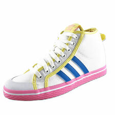 Adidas Originals Honey Stripes Up Womens Girls Hi Top Trainers White