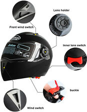 DOT Flip Up Motorcycle Helmet Full Face Street Bike Full Face Dual Visor