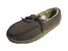 Spot On Mens 577453 Brown Moccasin Textile Slippers UK7-11 (R11A)