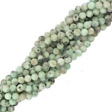 "Charm Round Sesame Jasper Gemstone Stone Loose Beads 15"" Strand Jewelry Making"