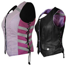 Missing Link G2 DOC Reversible Leather/Hi-Vis Womens Motorcycle Safety Vests