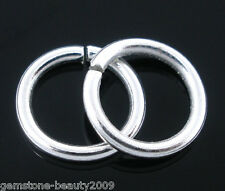 Wholesale HX Silver Plated Open Jump Rings Findings 1.2x9mm