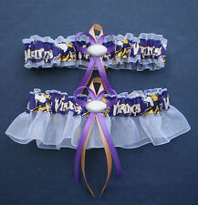 Minnesota Vikings Fabric Wedding Garter Set Football Charm Sport