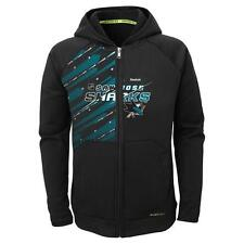 Reebok San Jose Sharks Center Ice Youth TNT PlayDry Full Zip Performance Hoodie