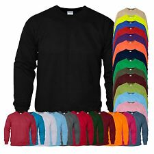 New Gildan Plain Sweatshirt Cotton Heavy Blend Crew Neck Sweater Blank Pullover