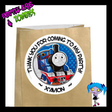Thomas the Train Birthday Party Favor Goody Bag STICKERS - Personalized WHT