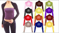New Womens Ladies Plus Size Long Sleeve Sheer Mesh Bolero Shrug Top UK Size 8-22