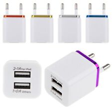 EU Dual USB 2.1A+1A Home Wall Charger Power Charging Adaptor Adapter