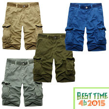 Casual Mens Cotton Summer Army Combat Cargo Work Shorts Pants 932 Trousers 1/2