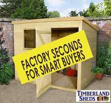 """Pent Garden Sheds Tanalised Budget """"Seconds"""" Fully T&G FITTED & DELIVERED**CHEAP"""