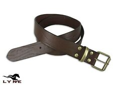 Leather Belt Mens Genuine Fashion New Quality Buckle Large Waist Work Wear LYNE