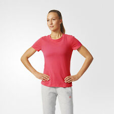 Adidas Aeroknit Womens Pink Climacool Short Sleeve Running T Shirt Tee Top