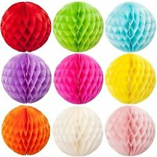 BEST PARTY WEDDING DECORATION TISSUE PAPER HONEYCOMB BALL MULTI SIZE COLORS