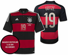 ADIDAS M. GOTZE GERMANY AWAY JERSEY SEMIFINAL DETAIL FIFA WORLD CUP BRAZIL 2014