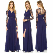 Sexy Lace Long Dress Chiffon Evening Formal Party Dress Bridesmaid Prom Gown