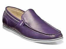 Stacy Adams Men's Coy Moc Toe Classic Slip On Loafer Shoes Purple 25041 New & BX